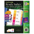 <strong>Avery®</strong><br />Customizable Table of Contents Ready Index Dividers with Multicolor Tabs, 5-Tab, 1 to 5, 11 x 8.5, White, 3 Sets