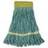 "<strong>Boardwalk®</strong><br />Super Loop Wet Mop Head, Cotton/Synthetic Fiber, 5"" Headband, Small Size, Green, 12/Carton"