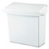 <strong>Rubbermaid® Commercial</strong><br />Sanitary Napkin Receptacle with Rigid Liner, Rectangular, Plastic, White