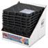 <strong>San Jamar®</strong><br />Versa-Mat Bar-Shelf Liner, Plastic, 12w x 12d x 0.25h, Black, 24/Carton
