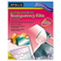 <strong>Apollo®</strong><br />Quick-Dry Color Inkjet Transparency Film, Letter, Clear, 50/Box