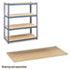<strong>Safco®</strong><br />Particleboard Shelves for Steel Pack Archival Shelving, 69w x 33d x 84w, Box of 4