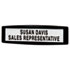 <strong>Fellowes®</strong><br />Plastic Partition Additions Nameplate, 9 x 2 1/2, Graphite