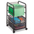<strong>Safco®</strong><br />Onyx Mesh Open Mobile File, Two-Drawers, 15.75w x 17d x 27h, Black