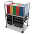 <strong>Advantus</strong><br />Letter/Legal File Cart w/Five Storage Drawers, 21.63w x 15.25d x 28.63h, Black