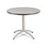 <strong>Iceberg</strong><br />CaféWorks Table, 36 dia x 30h, Gray/Silver