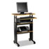 <strong>Safco®</strong><br />Adjustable Height Stand-Up Workstation, 29.5w x 22d x 49h, Cherry/Black