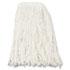 <strong>Boardwalk®</strong><br />Premium Cut-End Wet Mop Heads, Rayon, 16oz, White, 12/Carton