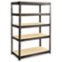 <strong>Safco®</strong><br />Boltless Steel/Particleboard Shelving, Five-Shelf, 48w x 24d x 72h, Black