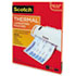 "<strong>Scotch&#8482;</strong><br />Laminating Pouches, 3 mil, 9"" x 11.5"", Gloss Clear, 100/Pack"