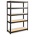 <strong>Safco®</strong><br />Boltless Steel/Particleboard Shelving, Five-Shelf, 48w x 18d x 72h, Black