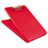 """<strong>Saunders</strong><br />SlimMate Storage Clipboard, 1/2"""" Clip Capacity, Holds 8 1/2 x 11 Sheets, Red"""
