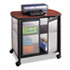 <strong>Safco®</strong><br />Impromptu Deluxe Machine Stand w/Doors, 34.75w x 25.5d x 30.75h, Black/Cherry