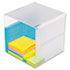 <strong>deflecto®</strong><br />Stackable Cube Organizer, 6 x 6 x 6, Clear