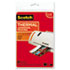 "<strong>Scotch&#8482;</strong><br />Laminating Pouches, 5 mil, 4.33"" x 6.33"", Gloss Clear, 20/Pack"