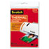 """<strong>Scotch&#8482;</strong><br />Laminating Pouches, 5 mil, 5"""" x 7"""", Gloss Clear, 20/Pack"""
