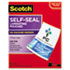 """<strong>Scotch&#8482;</strong><br />Self-Sealing Laminating Pouches, 9.5 mil, 9"""" x 11.5"""", Gloss Clear, 25/Pack"""