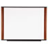 <strong>3M&#8482;</strong><br />Melamine Dry Erase Board, 48 x 36, Mahogany Frame