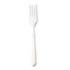 <strong>GEN</strong><br />Heavyweight Cutlery, Forks, Polypropylene, White, 1000/Carton
