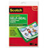 "<strong>Scotch&#8482;</strong><br />Self-Sealing Laminating Sheets, 6 mil, 9.06"" x 11.63"", Gloss Clear, 10/Pack"