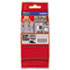"""<strong>Brother P-Touch®</strong><br />TZ Extra-Strength Adhesive Laminated Labeling Tape, 1.4"""" x 26.2 ft, Black on Matte Silver"""