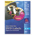 <strong>Avery®</strong><br />Inkjet DVD Labels, Matte White, 20/Pack