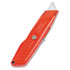 <strong>Stanley®</strong><br />Interlock Safety Utility Knife w/Self-Retracting Round Point Blade, Red Orange