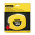 "BOS34106 - Long Tape Measure, 1/8"" Graduations, 100ft, Yellow"