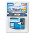 """<strong>Brother P-Touch®</strong><br />TZe Standard Adhesive Laminated Labeling Tape, 0.7"""" x 26.2 ft, White on Blue"""