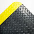 <strong>Crown</strong><br />Industrial Deck Plate Anti-Fatigue Mat, Vinyl, 24 x 36, Black/Yellow Border