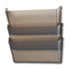 <strong>deflecto®</strong><br />Unbreakable DocuPocket 3-Pocket Wall File, Letter, 14 1/2 x 3 x 6 1/2, Smoke