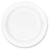 "<strong>Dart®</strong><br />Concorde Foam Plate, 10 1/4"" dia, White, 125/Pack, 4 Packs/Carton"