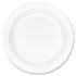 "<strong>Dart®</strong><br />Concorde Foam Plate, 9"" dia, White, 125/Pack, 4 Packs/Carton"