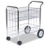 <strong>Fellowes®</strong><br />Wire Mail Cart, 21.5w x 37.5d x 39.25h, Chrome