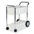 <strong>Fellowes®</strong><br />Steel Mail Cart, 150-Folder Capacity, 20w x 40.5d x 39h, Dove Gray