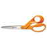 "<strong>Fiskars®</strong><br />Home and Office Scissors, 8"" Long, 3.5"" Cut Length, Orange Offset Handle"