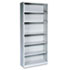 <strong>HON®</strong><br />Metal Bookcase, Six-Shelf, 34-1/2w x 12-5/8d x 81-1/8h, Light Gray