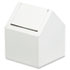 <strong>HOSPECO®</strong><br />Double Entry, Swing Top Floor Receptacle, Metal, White