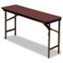 <strong>Iceberg</strong><br />Premium Wood Laminate Folding Table, Rectangular, 60w x 18d x 29h, Mahogany