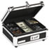 <strong>Vaultz®</strong><br />Plastic & Steel Cash Box w/Tumbler Lock, Black & Chrome