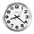 "<strong>Howard Miller®</strong><br />Spokane Wall Clock, 15.75"" Overall Diameter, Silver Case, 1 AA (sold separately)"