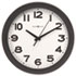 "<strong>Howard Miller®</strong><br />Kenwick Wall Clock, 13.5"" Overall Diameter, Black Case, 1 AA (sold separately)"