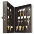 "<strong>SteelMaster®</strong><br />Hook-Style Key Cabinet, 28-Key, Steel, Black, 7-3/4""w x  3-1/4""d x 11-1/2""h"