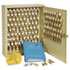 <strong>SteelMaster®</strong><br />Locking Two-Tag Cabinet, 120-Key, Welded Steel, Sand, 16 1/2 x 4 7/8 x 20 1/8