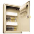 <strong>SteelMaster®</strong><br />Uni-Tag Key Cabinet, 30-Key, Steel, Sand, 8 x 2 5/8 x 12 1/8