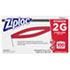 "<strong>Ziploc®</strong><br />Double Zipper Storage Bags, 2 gal, 1.75 mil, 15"" x 13"", Clear, 100/Carton"