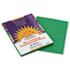 <strong>SunWorks®</strong><br />Construction Paper, 58lb, 9 x 12, Holiday Green, 50/Pack