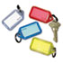 <strong>SecurIT®</strong><br />Extra Color-Coded Key Tags for Key Tag Rack, 1 1/8 x 2 1/4, Assorted, 4/Pack