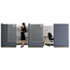 <strong>Quartet®</strong><br />Workstation Privacy Screen, 36w x 48d, Translucent Clear/Silver