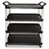 <strong>Rubbermaid® Commercial</strong><br />Open Sided Utility Cart, Four-Shelf, 40.63w x 20d x 51h, Black